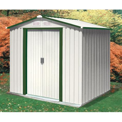 Duramax Sheds For Sale by Duramax 174 6x4 Riverton Metal Shed 130893 Sheds At Sportsman S Guide