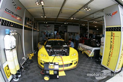 Garage Racing Corvette Racing Garage Area At 24 Hours Of Le Mans