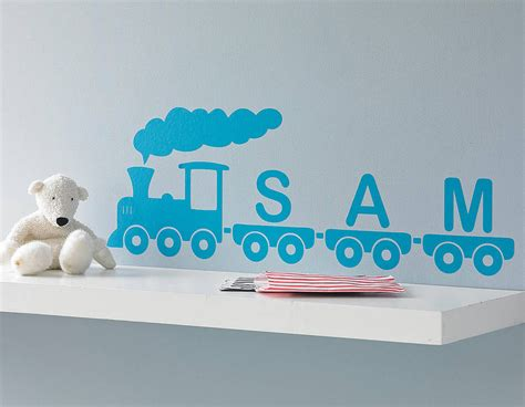 Train Wall Stickers personalised train vinyl wall sticker contemporary wall