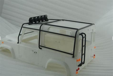 Roof Rack Metal D90 Rc 1 10 1 10 scale metal rolling roll cage adventure land defender d90 roof rack rover luggage tray led