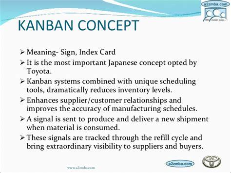 toyota kanban system toyota production system