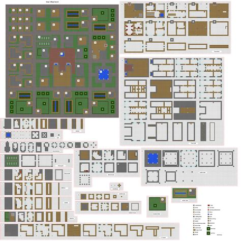 minecraft floor plan fortified village buildings pt1 by coltcoyote deviantart