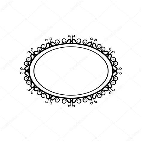 imagenes retro en blanco y negro marco oval vintage blanco y negro sobre un fondo blanco