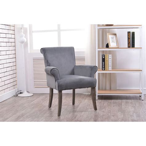 linon home decor calla charcoal microfiber arm chair