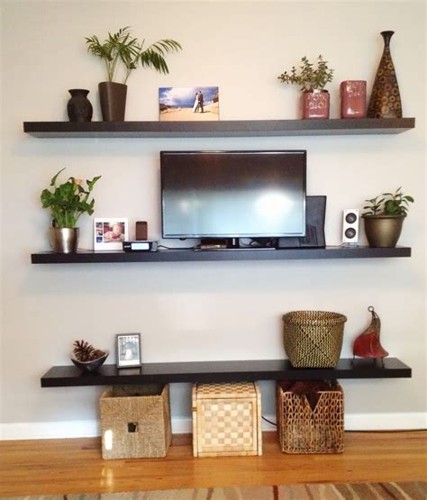 Wall Shelving Ideas For Living Room How To Decorate Floating Shelves In Living Room Living Room
