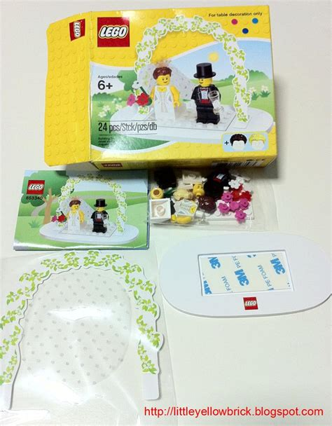 Lego Wedding Set 853340 yellow brick a lego what s in the post 3 853340 wedding table decoration set