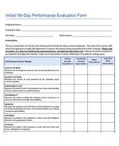 90 Day Performance Review Template by Employee Review Templates 10 Free Pdf Documents