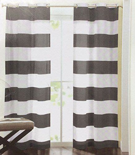 hillcrest curtains hillcrest wide stripes curtains 2 panels 52 by 96 inch