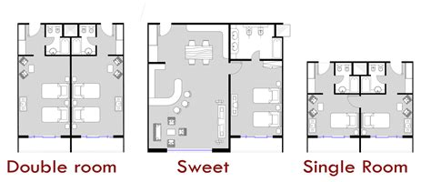 layout of twin room in hotel gallery of father and son skyscraper iamz studio 5