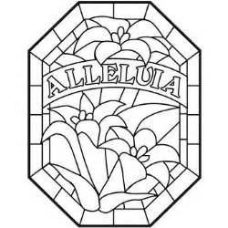 Alleluia Coloring Page alleluia stained glass design cgs printables