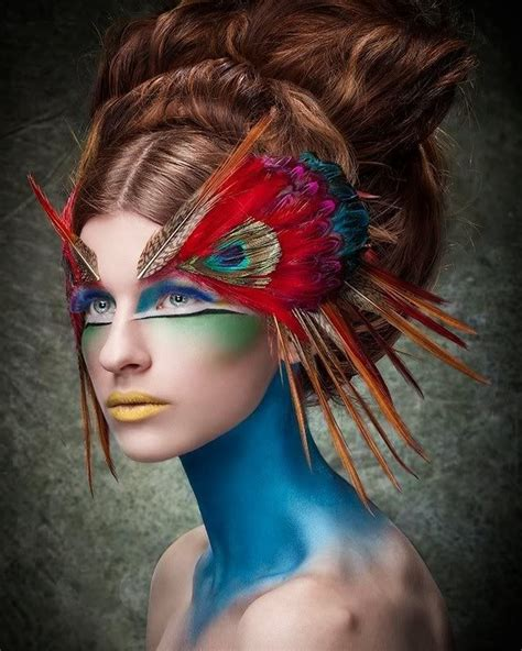 extreme tattoo makeup avant garde fashion photography avant garde peacock