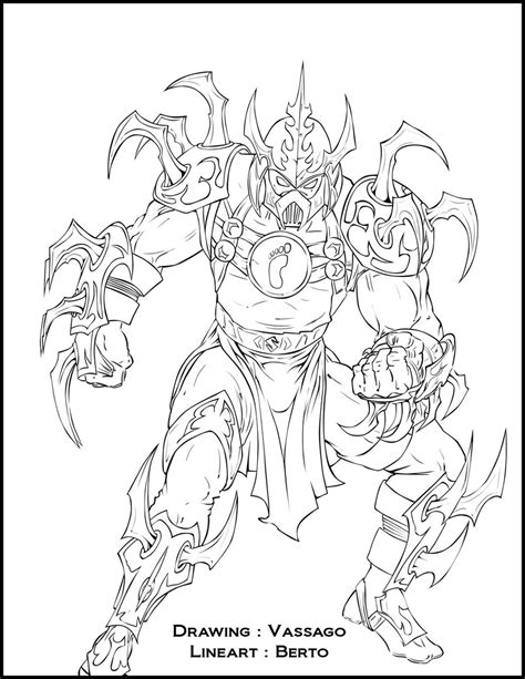 super ninja coloring pages super shredder lineart by diabolumberto on deviantart