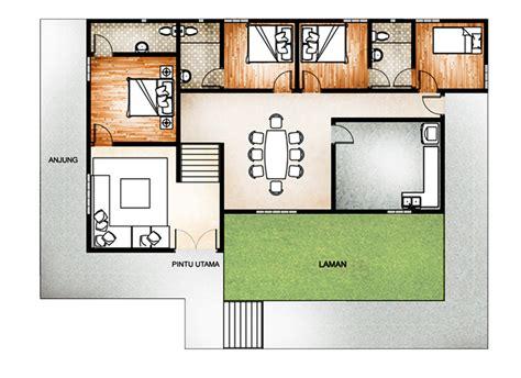 layout rumah 4 bilik 4 bilik tidur floor plan pinterest architecture and
