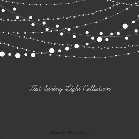 white string lights set of decorative string lights vector free