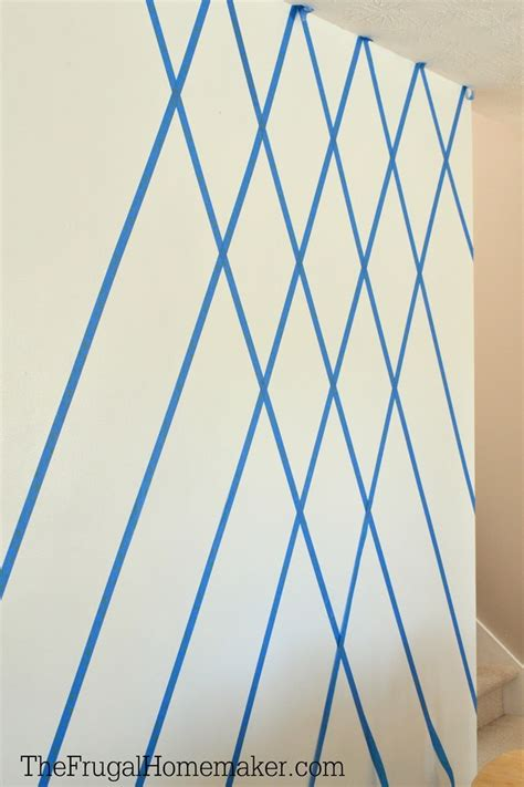 wall pattern ideas with tape how to paint a diamond accent wall using scotchblue