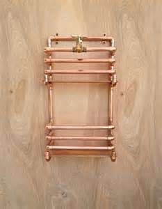 copper magazine rack wall storage rack industrial design