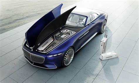 the vision mercedes maybach 6 cabriolet floats into pebble