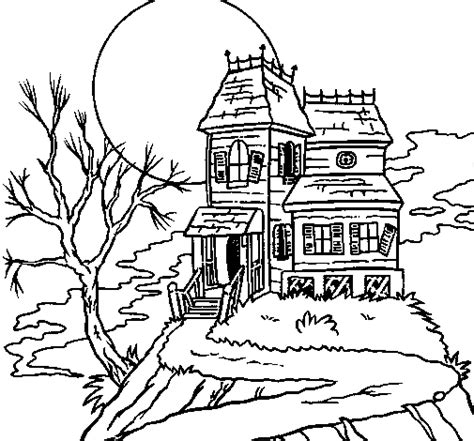 Haunted House Coloring Page Coloringcrew Com Coloring Pages Haunted House