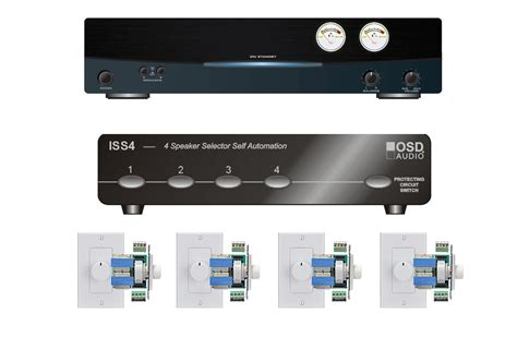 Multi Room Audio Systems by 4 Zone Multi Room Audio System Osd Audio