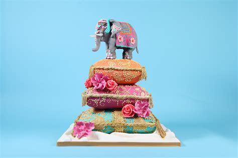 Or Cake Indian Elephant Wedding Cake Cakes By Robin