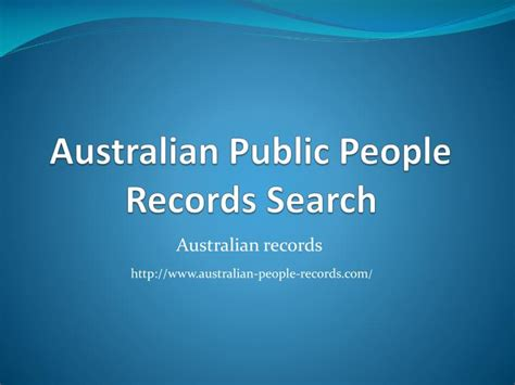 Australian Records Ppt Australian Records Search Powerpoint Presentation Id 7472425