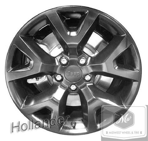 stock black jeep wheels jeep 9144b oem wheel 1ut91rxfaa oem original alloy wheel