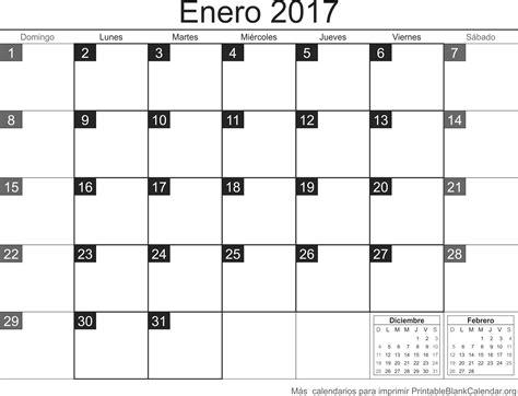 Enero De 2017 Calendario Enero 2017 Calendario Para Imprimir Calendarios Para