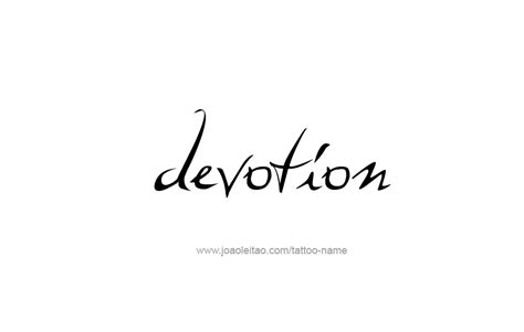 devotion tattoo devotion feeling name designs tattoos with names