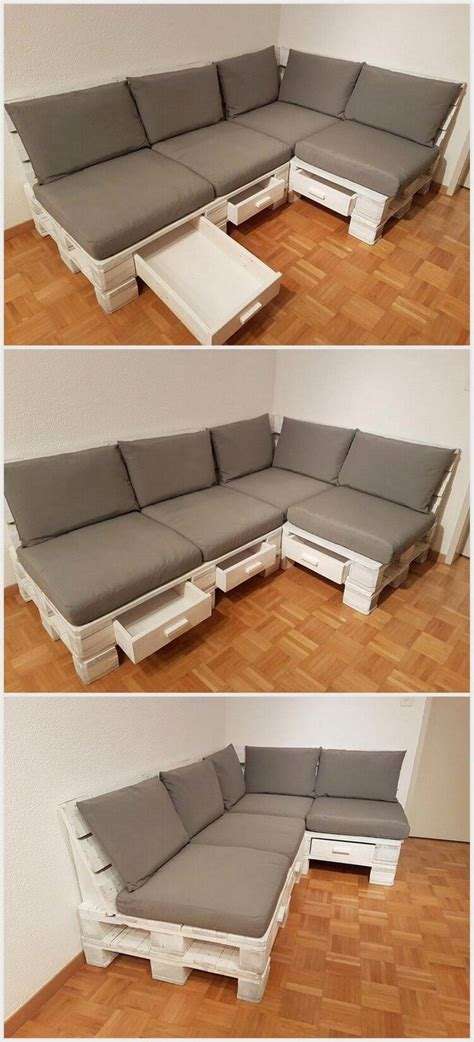 Sofa With Drawers Underneath by Best 25 Wooden Pallet Furniture Ideas On
