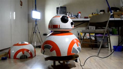 membuat robot bb 8 kid builds bb 8 robot out of beach ball deodorant rollers
