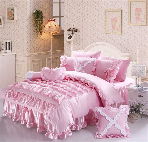 princess bed set free shipping luxury romantic beautiful princess comforter sets ruffle lace bow