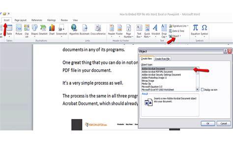 imagenes pdf a word 2 formas de insertar un pdf en un documento word