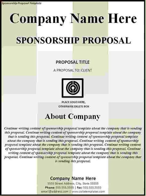 5 Sponsorship Proposal Template Timeline Template Exle Sponsorship