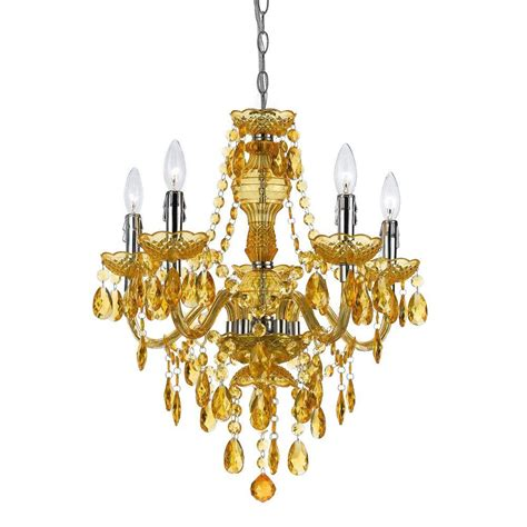 Gold Chandeliers Illumine Designer 5 Light Gold Chandelier Cli Ls 19898 The Home Depot