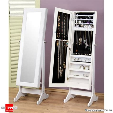 full length mirror jewellery cabinet australia wooden mirrored jewellery full length storage cabinet