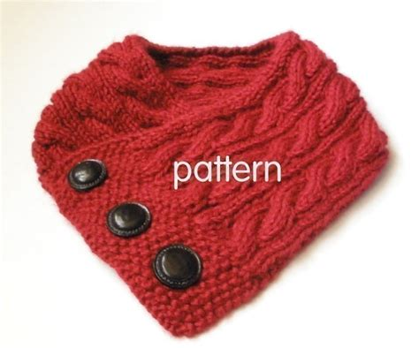 knitted neck warmer free pattern cabled neck warmer knitting pattern pdf permission granted