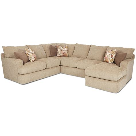 Klaussner Oliver Contemporary Three Sectional Sofa