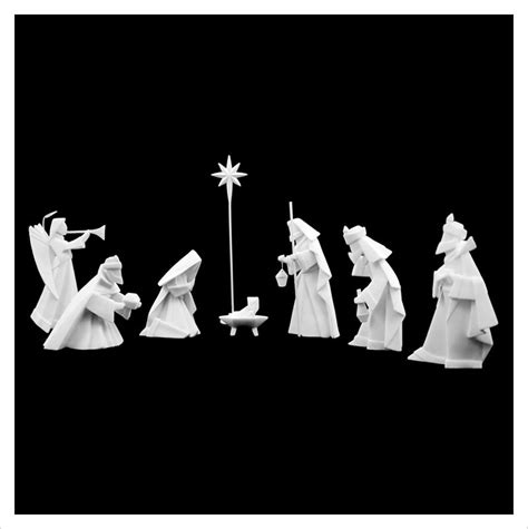 How To Make An Origami Nativity - modern 8 origami nativity manger in white porcelain