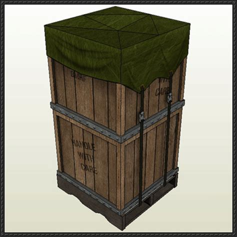 Paper Craft Square - new paper model black mesa crate free paper