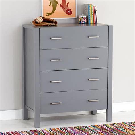 Grey Dresser by Uptown 4 Drawer Dresser Grey The Land Of Nod
