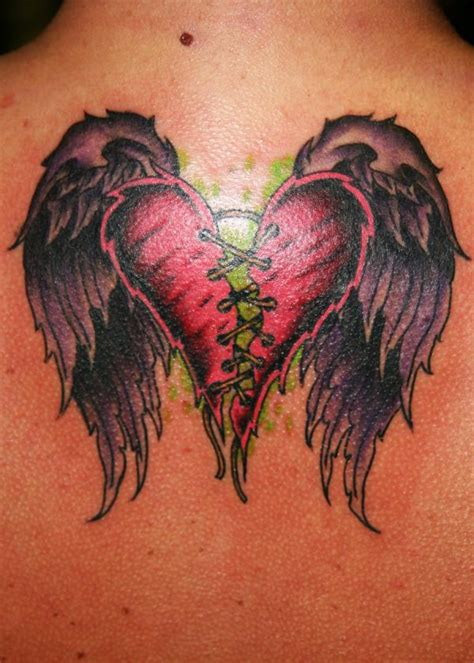 broken wing tattoo broken with wings on back tattooshunt