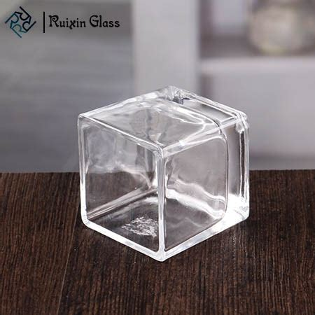 Square Glass Candle Holders by Clear Square Glass Candle Holders Navy Blue Square Votive