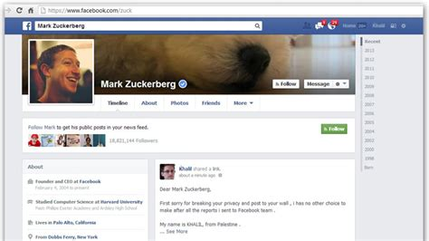 bug url facebook anonitun hacker posts facebook bug report on zuckerberg s wall rt
