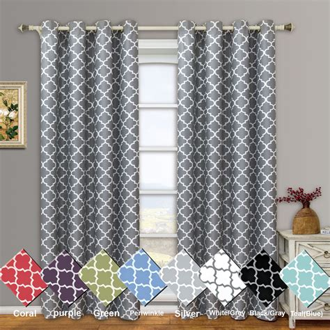 thermal curtain panels meridian room darkening top grommet thermal insulated