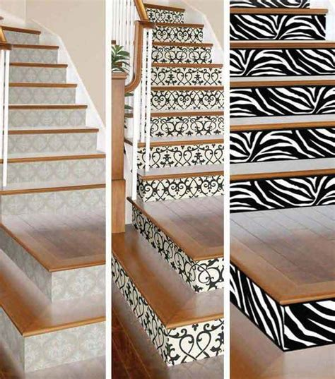 20 diy wallpapered stair risers ideas to give stairs some