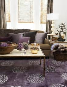 Purple and Brown Living Room   Transitional   living room   House & Home