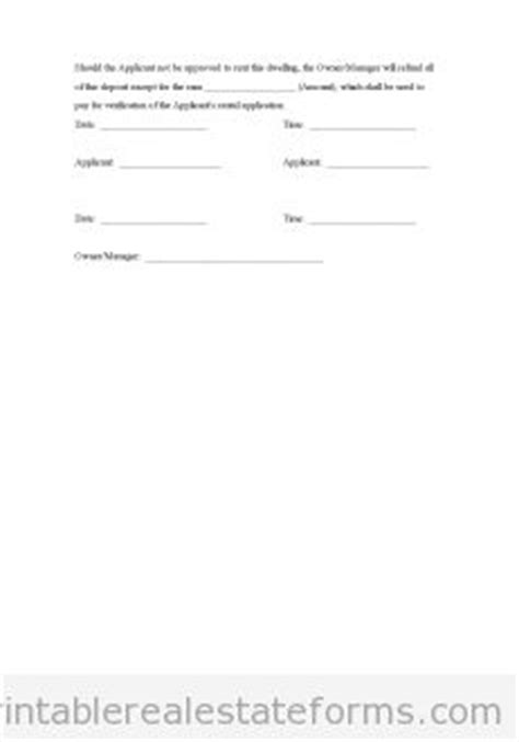 real estate deposit receipt template 1000 images about free printable real estate forms on