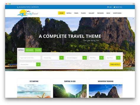 wordpress theme tourism free download 50 jaw dropping wordpress travel themes for travel