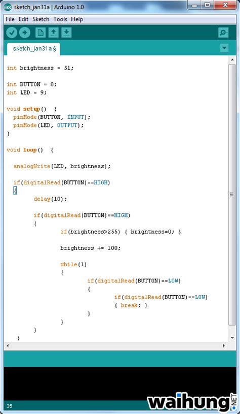 code arduino uno arduino pulse width modulation