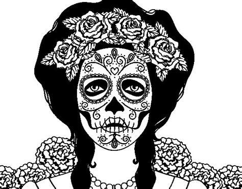 calavera mexicana dibujo dibujo de mujer calavera mejicana para colorear dibujos